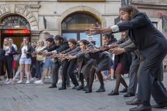 Festival international des théâtres ULICA de rue dans Cracow_Kamchatka, Espagne Image stock