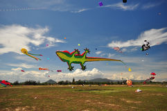 Festival internazionale 2012 del cervo volante della Tailandia Fotografia Stock Libera da Diritti