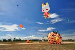 Festival internazionale 2012 del cervo volante della Tailandia Fotografie Stock