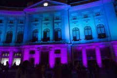 Festival internazionale Bucarest 2015 del riflettore Immagine Stock Libera da Diritti