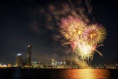 Festival internazionale dei fuochi d'artificio di Seoul Fotografia Stock Libera da Diritti
