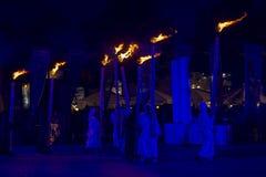 Festival internazionale dei teatri ULICA della via nel teatro di Cracow_Xarxa fotografia stock