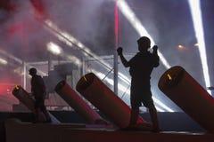 Festival internazionale dei teatri ULICA della via nel teatro di Cracow_Xarxa fotografie stock libere da diritti