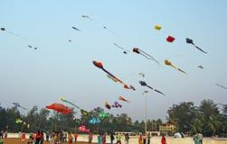 Festival internazionale 2017 dell'aquilone di Goa Fotografia Stock