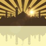 Festival islamico del sacrificio, Eid Al Adha Mubarak Greeting Card Fondo di vettore Fotografia Stock Libera da Diritti