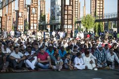 Festival islamico di sacrificio a Torino, Italia Immagine Stock Libera da Diritti