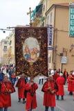 Festival italien de village avec le défilé Images libres de droits