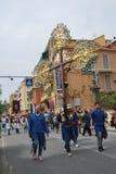 Festival italien de village avec le défilé Photos libres de droits