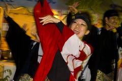 Festival japonés de los bailarines Imagenes de archivo