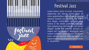Festival Jazz Conceptual Banner illustration libre de droits