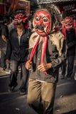 Festival in Jyogakarta. Jyogakarta, Indonesia. Jul 26, 2015. People marching in a local festival in Jyogakarta royalty free stock photo