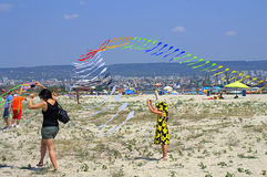 Festival of Kites on the beach Royalty Free Stock Photos