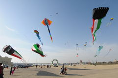 Festival kites in Kuwait 2010. Hala  Febrayer Festival in Kuwait from 1st of feb to 28th of feb evry year and Royalty Free Stock Photos