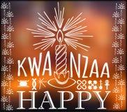 Festival Kwanzaa De kaart van de vakantie royalty-vrije illustratie