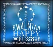 Festival Kwanzaa De kaart van de vakantie stock illustratie