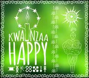 Festival Kwanzaa. Holiday card Stock Photography
