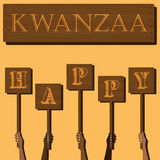 Festival Kwanzaa. Holiday card Royalty Free Stock Photography