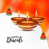 Festival léger indien de célébration heureuse de Diwali illustration stock