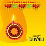 Festival léger indien de célébration heureuse de Diwali illustration libre de droits