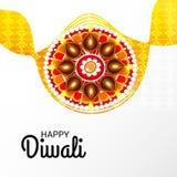 Festival léger indien de célébration heureuse de Diwali illustration de vecteur