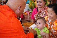 Festival laosiano de Buda del baño del Año Nuevo Foto de archivo libre de regalías