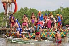 Festival le 27 avril 2009 de Kadaguan SA Mactan photographie stock