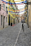 Festival. Let`s party in the centre of Lisbon stock photo