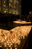 Festival ligero en Leipzig, 9 de octubre de 2009 Imágenes de archivo libres de regalías