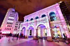 Festival ligero internacional del proyector Foto de archivo libre de regalías