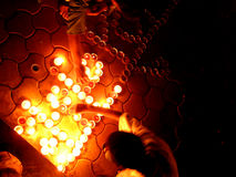 Festival of Light. People light up oil lamps on the festive occasion of Diwali in India Stock Photo