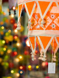Festival of Light. Colorful tapering tasseled cloth lanterns use in decorations for the Hindu festival of Deepavali or Diwali, or popularly as the Festival of Royalty Free Stock Image