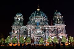 Festival of Light, Berlin, Germany - Berliner Dom royalty free stock images
