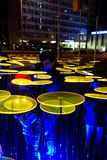 Festival of Light, Berlin, Germany - Ernst Reuter Platz. Every year there is a Festival of Light in Berlin, Germany royalty free stock image