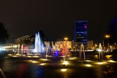 Festival of Light, Berlin, Germany - Ernst Reuter Platz. Every year there is a Festival of Light in Berlin, Germany royalty free stock photos