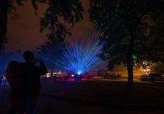 Festival of Light in Bratislava, Slovakia 2016 Stock Images