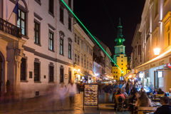 Festival of Light in Bratislava, Slovakia 2016 Royalty Free Stock Image