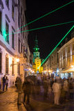 Festival of Light in Bratislava, Slovakia 2016 Royalty Free Stock Photo