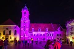 Festival of Light in Bratislava, Slovakia 2016 Stock Image