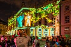 Festival of Light in Bratislava, Slovakia 2016 Stock Photo