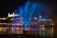 Festival of Light in Bratislava, Slovakia 2016 Royalty Free Stock Photo