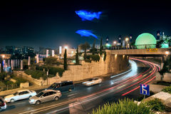 Festival of Light in Jerusalem. The festival is held annually in the summer in the old town Stock Photos