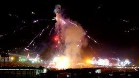 Festival of light in Taunggyi Myanmar stock video