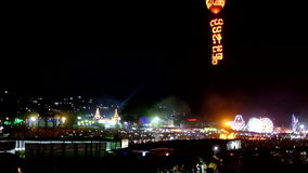 Festival of light in Taunggyi Myanmar stock video footage