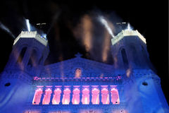 Festival of Lights 2009 in Lyon Stock Photos