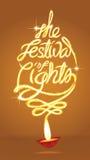 The festival of lights background. Light art for the wording - the festival of lights Stock Images