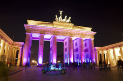 Festival of lights brandenburger tor pink RF Stock Photos