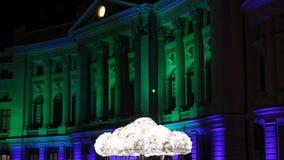 Festival of lights, Bucharest 2015 stock video