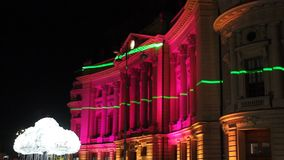 Festival of lights, Bucharest 2015 stock video footage