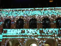 Festival of lights 2017 in Bucharest, Romania stock footage