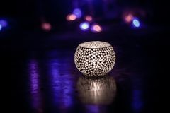 Festival of lights candle light diwali tealight holder royalty free stock image